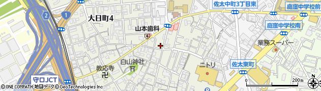 大阪府守口市大日町周辺の地図