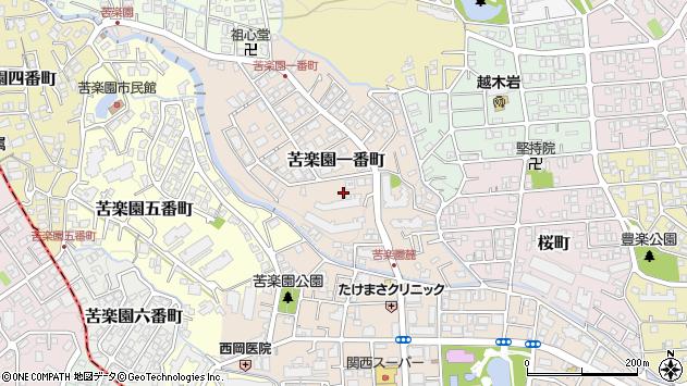 〒662-0083 兵庫県西宮市苦楽園一番町の地図