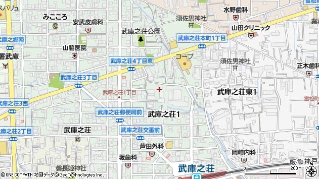〒661-0035 兵庫県尼崎市武庫之荘の地図