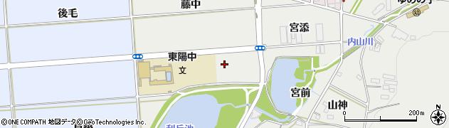 愛知県豊橋市岩崎町(野田)周辺の地図
