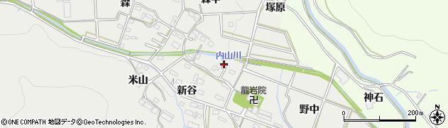 愛知県豊橋市岩崎町(ズシ)周辺の地図