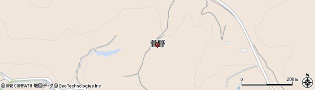 岡山県岡山市北区菅野周辺の地図