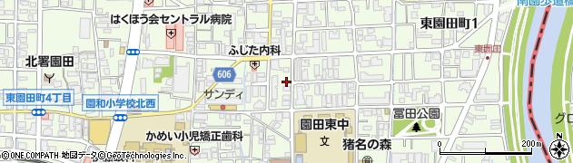 兵庫県尼崎市東園田町5丁目周辺の地図