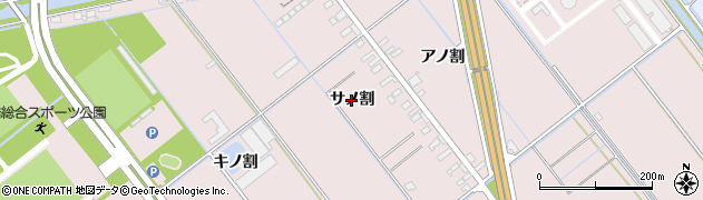 愛知県豊橋市神野新田町(サノ割)周辺の地図