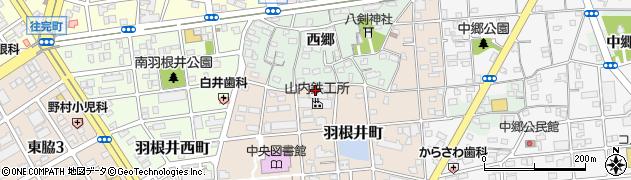 愛知県豊橋市羽根井町周辺の地図