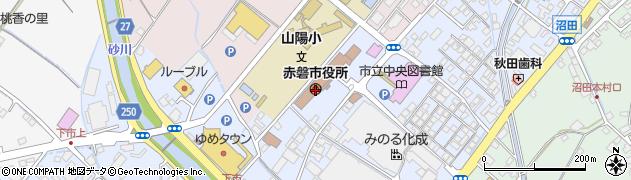 岡山県赤磐市周辺の地図