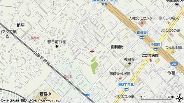 〒675-0033 兵庫県加古川市加古川町南備後の地図
