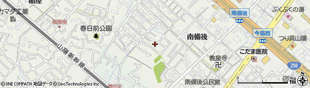 兵庫県加古川市加古川町(南備後)周辺の地図