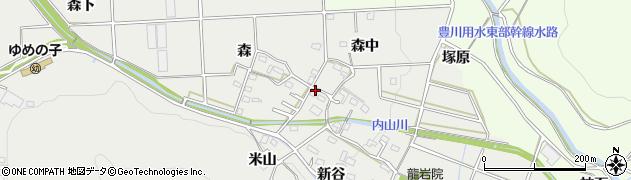 愛知県豊橋市岩崎町周辺の地図