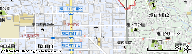 兵庫県尼崎市塚口町1丁目周辺の地図