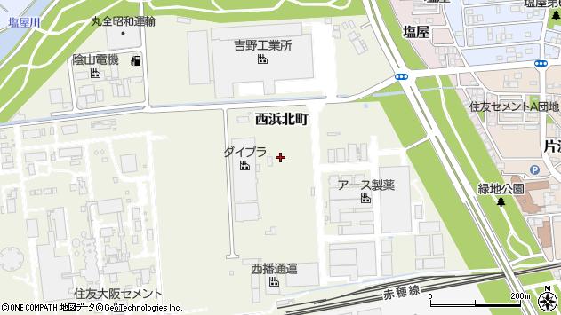 〒678-0207 兵庫県赤穂市西浜北町の地図