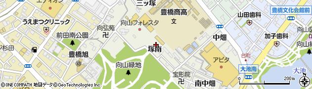 愛知県豊橋市向山町(塚南)周辺の地図
