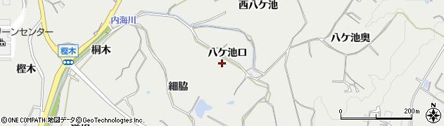愛知県南知多町(知多郡)内海(八ケ池口)周辺の地図