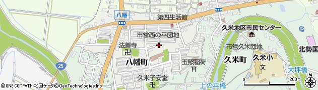三重県伊賀市八幡町周辺の地図