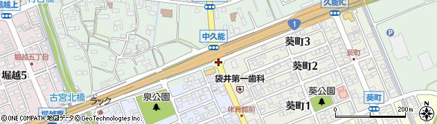 中久能周辺の地図