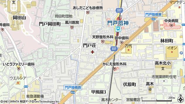 〒662-0825 兵庫県西宮市門戸荘の地図