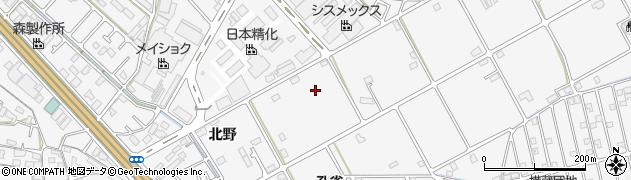 兵庫県加古川市野口町(北野)周辺の地図