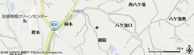 愛知県南知多町(知多郡)内海(細脇)周辺の地図