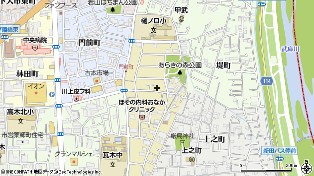 〒663-8025 兵庫県西宮市荒木町の地図