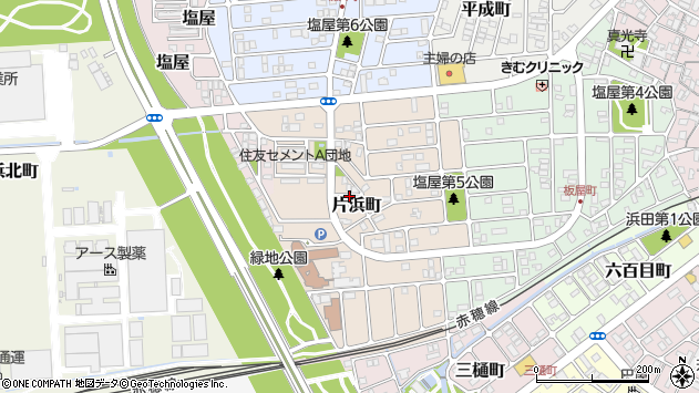 〒678-0249 兵庫県赤穂市片浜町の地図