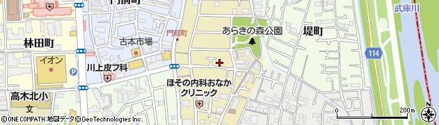 兵庫県西宮市荒木町周辺の地図