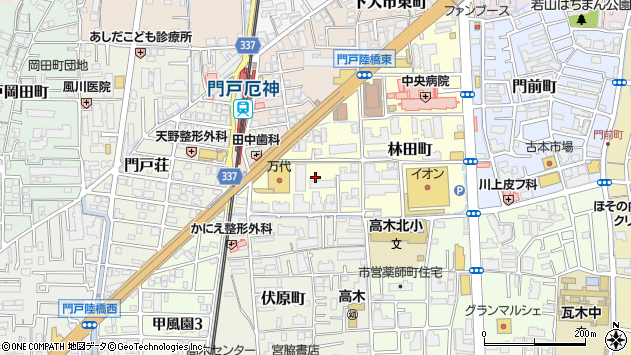 〒663-8015 兵庫県西宮市野間町の地図