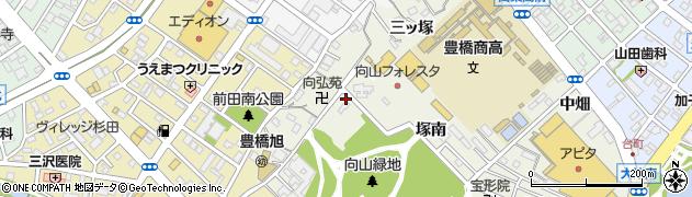 愛知県豊橋市向山町(一本松)周辺の地図