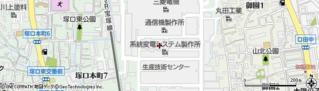兵庫県尼崎市塚口本町8丁目周辺の地図