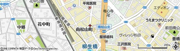 愛知県豊橋市南松山町周辺の地図