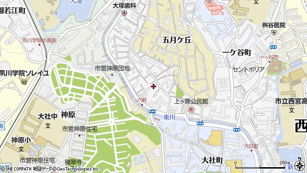 〒662-0874 兵庫県西宮市六軒町の地図