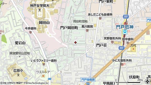 〒662-0826 兵庫県西宮市門戸岡田町の地図
