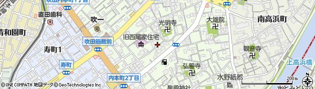 大阪府吹田市内本町周辺の地図