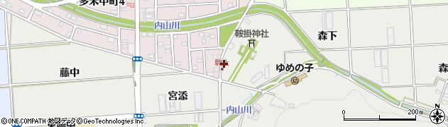 愛知県豊橋市岩崎町(川添)周辺の地図