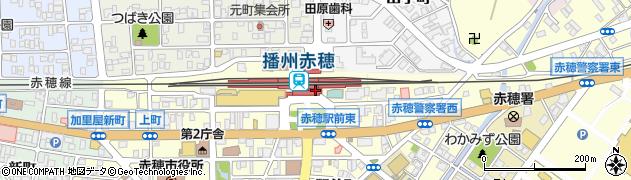 兵庫県赤穂市周辺の地図