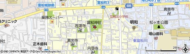 富松神社周辺の地図