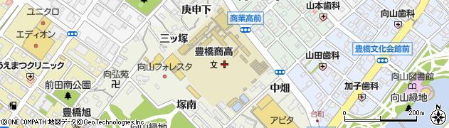 愛知県豊橋市向山町周辺の地図