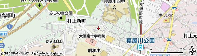 大阪府寝屋川市打上高塚町周辺の地図