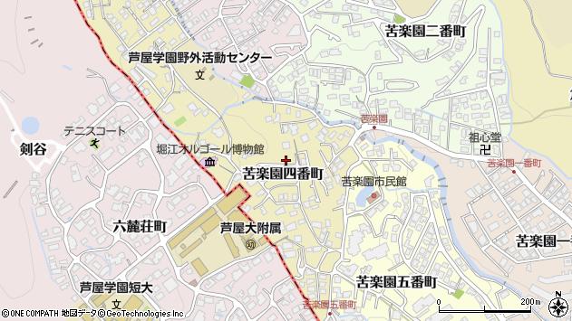 〒662-0088 兵庫県西宮市苦楽園四番町の地図