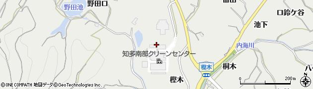 愛知県南知多町(知多郡)内海(樫木)周辺の地図