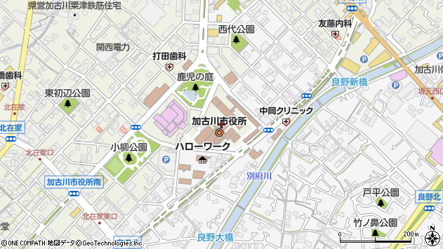 〒675-0000 兵庫県加古川市(以下に掲載がない場合)の地図