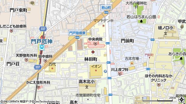 〒663-8014 兵庫県西宮市林田町の地図