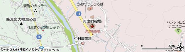 静岡県賀茂郡河津町周辺の地図