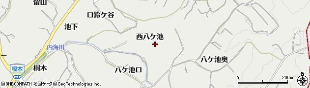 愛知県南知多町(知多郡)内海(西八ケ池)周辺の地図