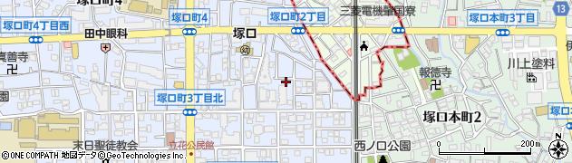 兵庫県尼崎市塚口町2丁目周辺の地図