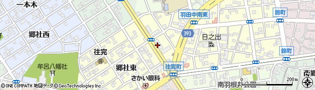 愛知県豊橋市往完町(往還西)周辺の地図