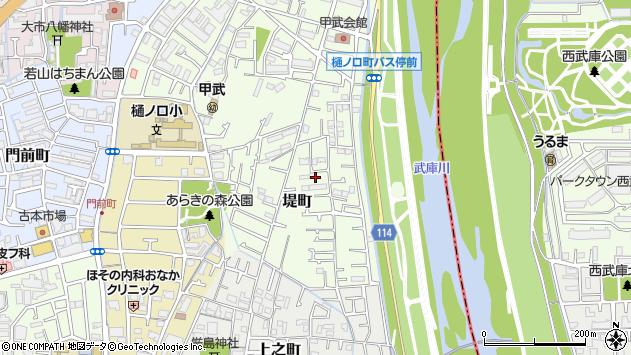 〒663-8012 兵庫県西宮市堤町の地図