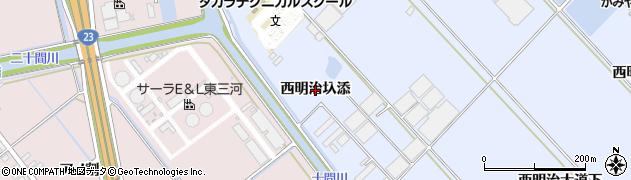 愛知県豊橋市牟呂町(西明治圦添)周辺の地図