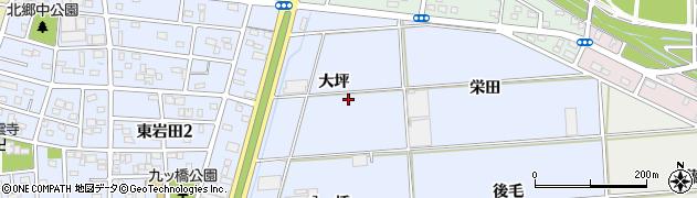 愛知県豊橋市岩田町(大坪)周辺の地図