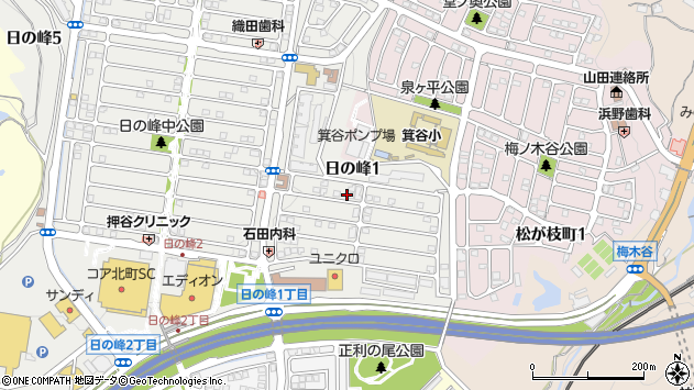 〒651-1233 兵庫県神戸市北区日の峰の地図