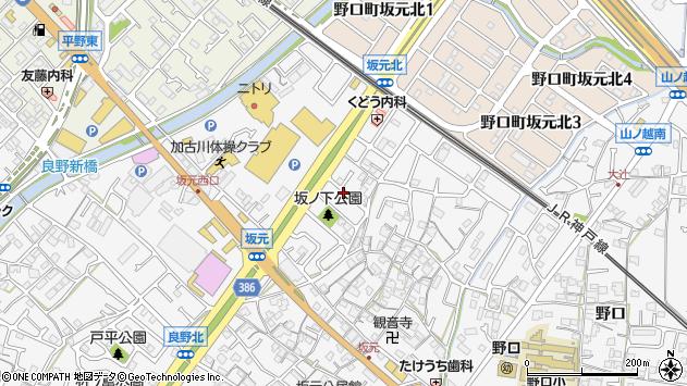 〒675-0018 兵庫県加古川市野口町坂元の地図
